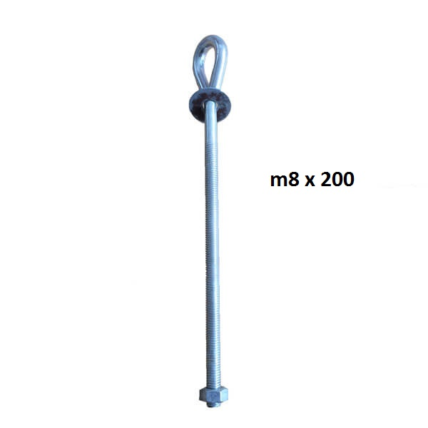 eye bolt m8 x 200