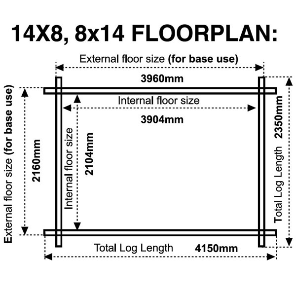 14x8-floor plan 28mm log cabin
