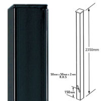 BP50X2350ZP - tall dig in post flat top