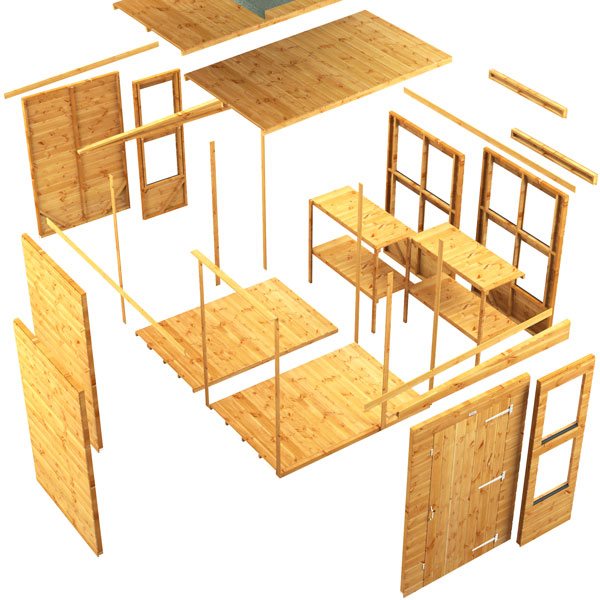 Power-Pent-Potting-Shed components