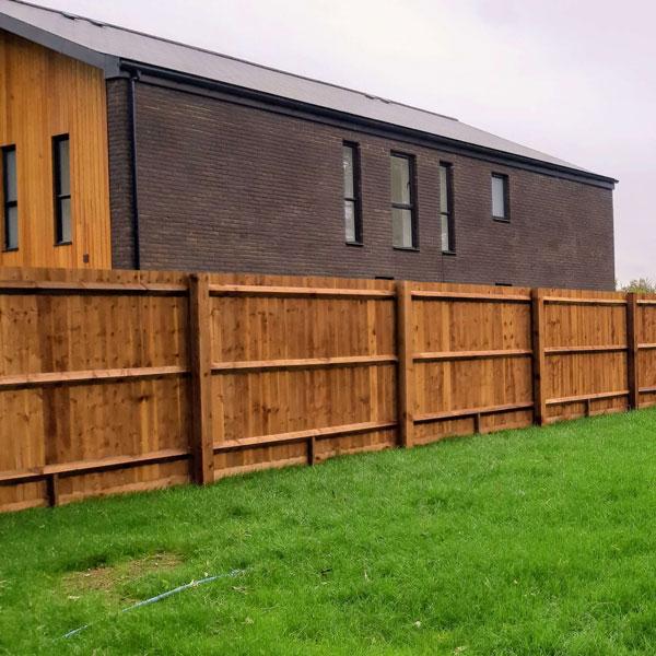 Traditional closeboard fencing