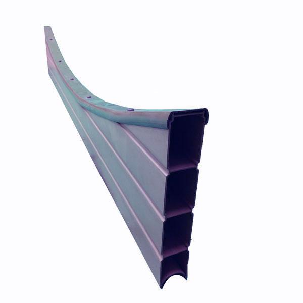 Concave graphite composite gravel board