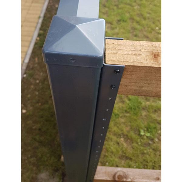 durapost anthracite grey post cap
