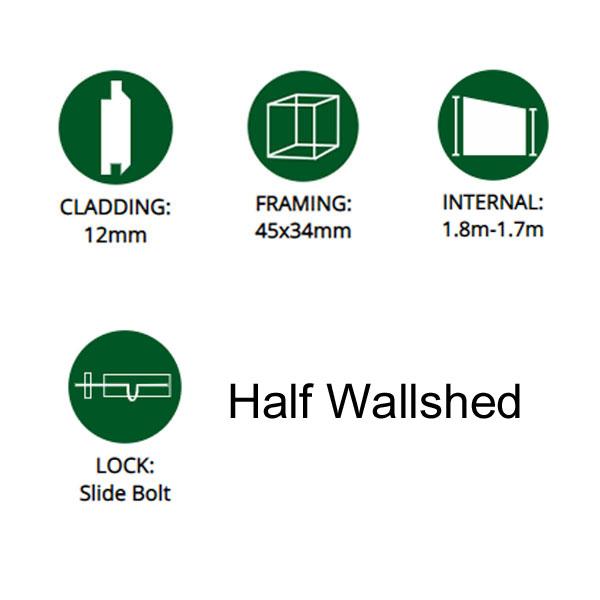 Half wallshed