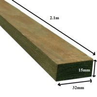 2.1m trellis batten brown