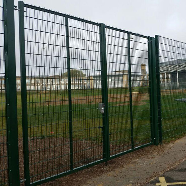 Protek twin wire double gates with double horizontal wires that are 6mm in diameter, which are stronger that the Profile Fence system range.