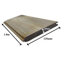 Tongue and groove board 1.8m tanalised green