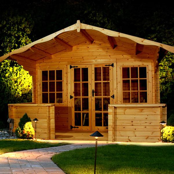Charnwood log cabin