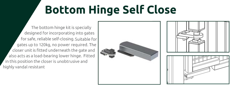 Bottom hinge self close