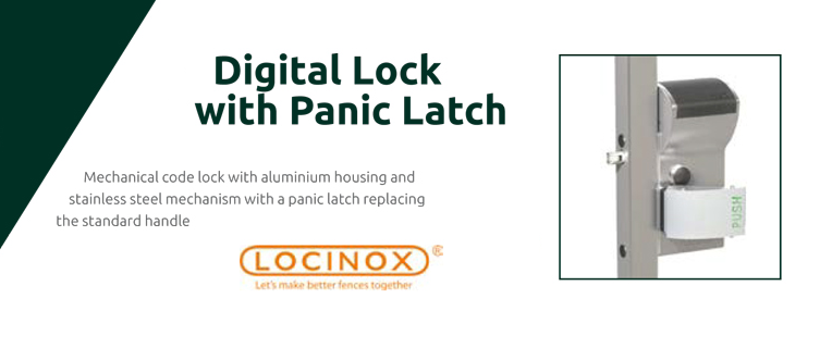 Digital lock with panic latch